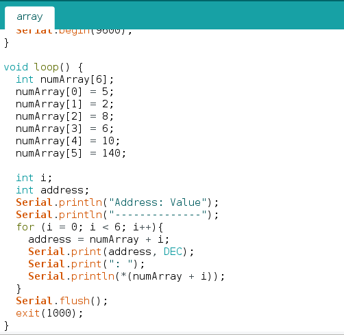 Looping over an array using pointers