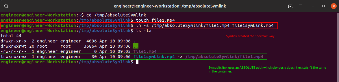 "Normal ""absolute"" symlink with absolute file path."