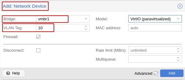 "Assigning a VLAN ""NIC"" to a VM in Proxmox"